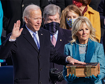 Joe Biden inaugurated as America