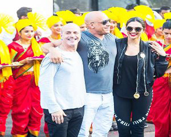 Pics:Vin Diesel welcomed in India with
