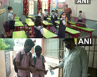 In pics: Schools reopen in India, students back in classes in many states after months