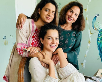 PHOTOS: Kangana Ranaut spends time with family after recovering from Covid