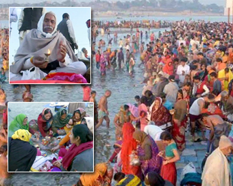 Thousands take holy dip at Kumbh on