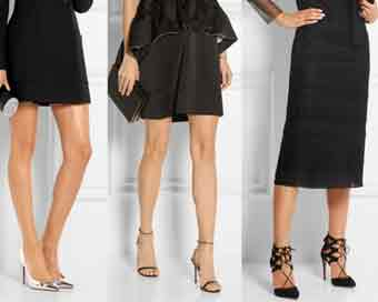 Footwear to reinvent your little black dress for Christmas