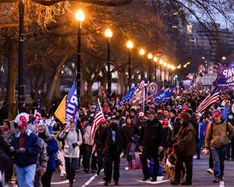 Photos: Chaos in Washington as Trump supporters storm US Senate