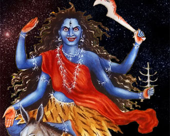 Goddess Kalratri worshiped on 7th day