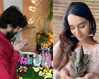 Bollywood celebs welcome Ganpati Bappa at home